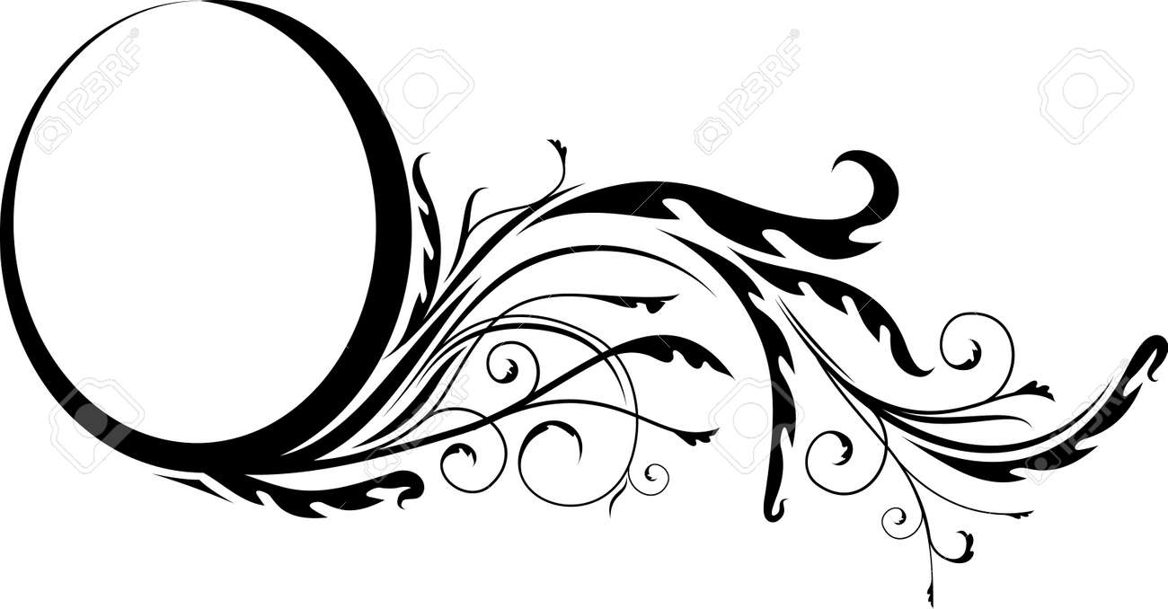 Elegant oval frame - 10707158