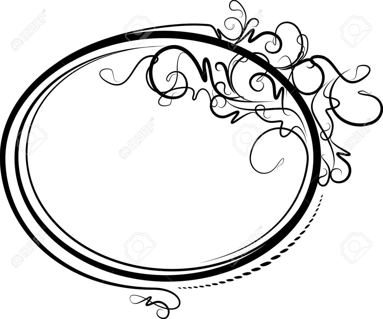 Vertical Oval Frame Clipart swirl Elegant oval frame