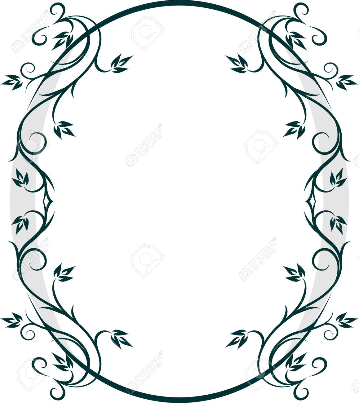 Beautiful oval frame. Vector Stock Vector - 10707242