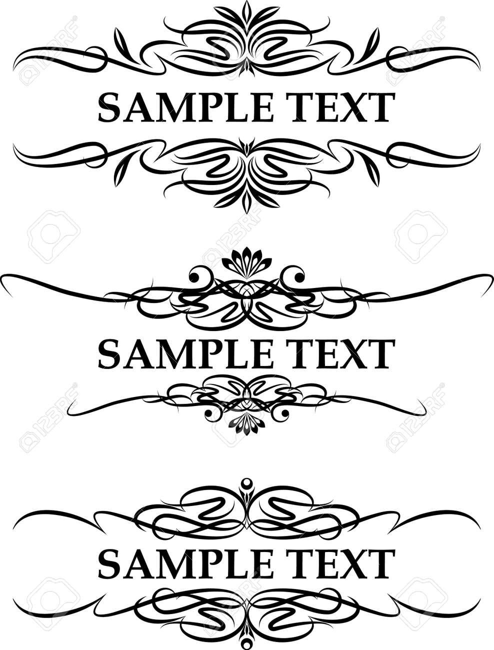 set of three elegant text frame - 10707397