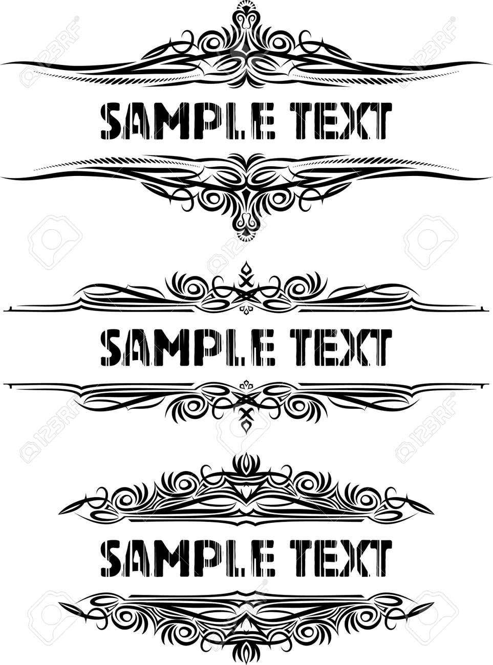 Elegant texts frames. Stock Vector - 10707446