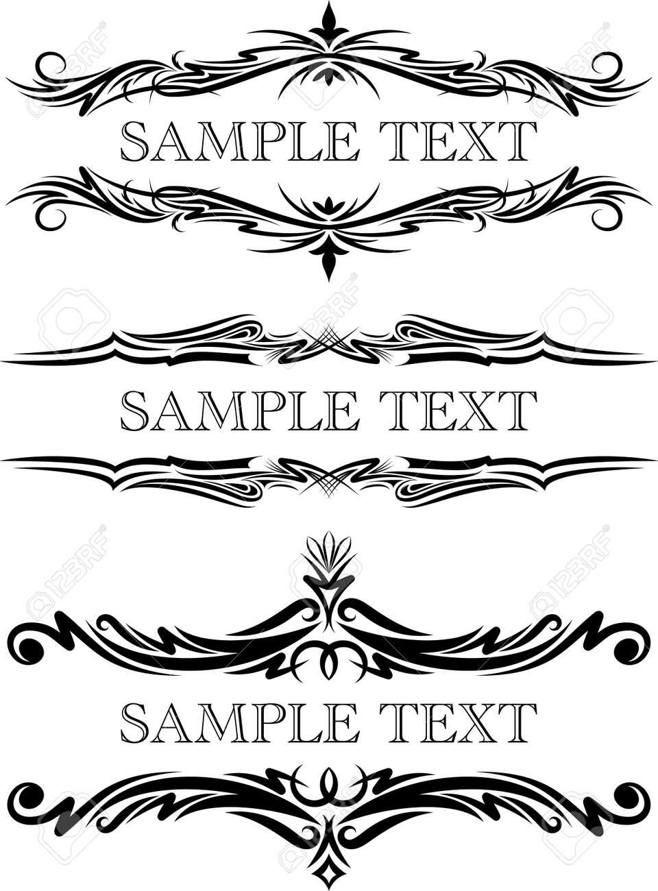Elegant texts frames. Stock Vector - 10707401