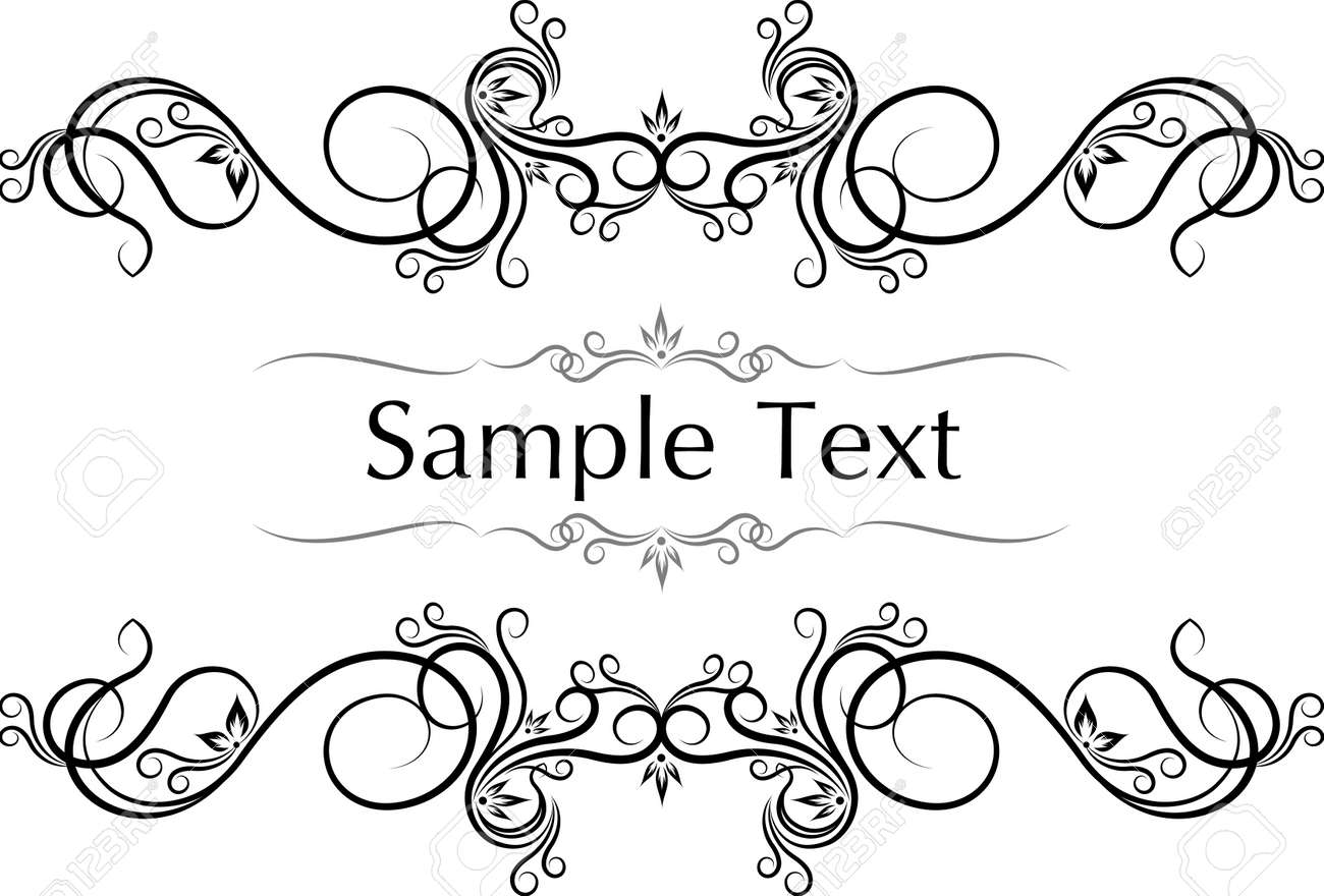 Vector Vintage Frames For Text. Royalty Free Cliparts, Vectors, And ...