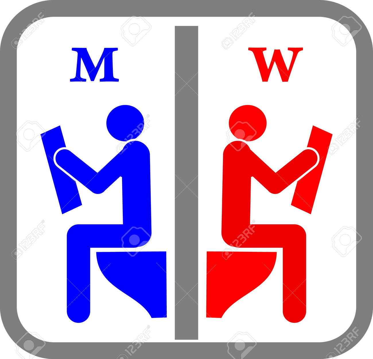 Amusing Toilet Sign. Stock Vector - 10707079