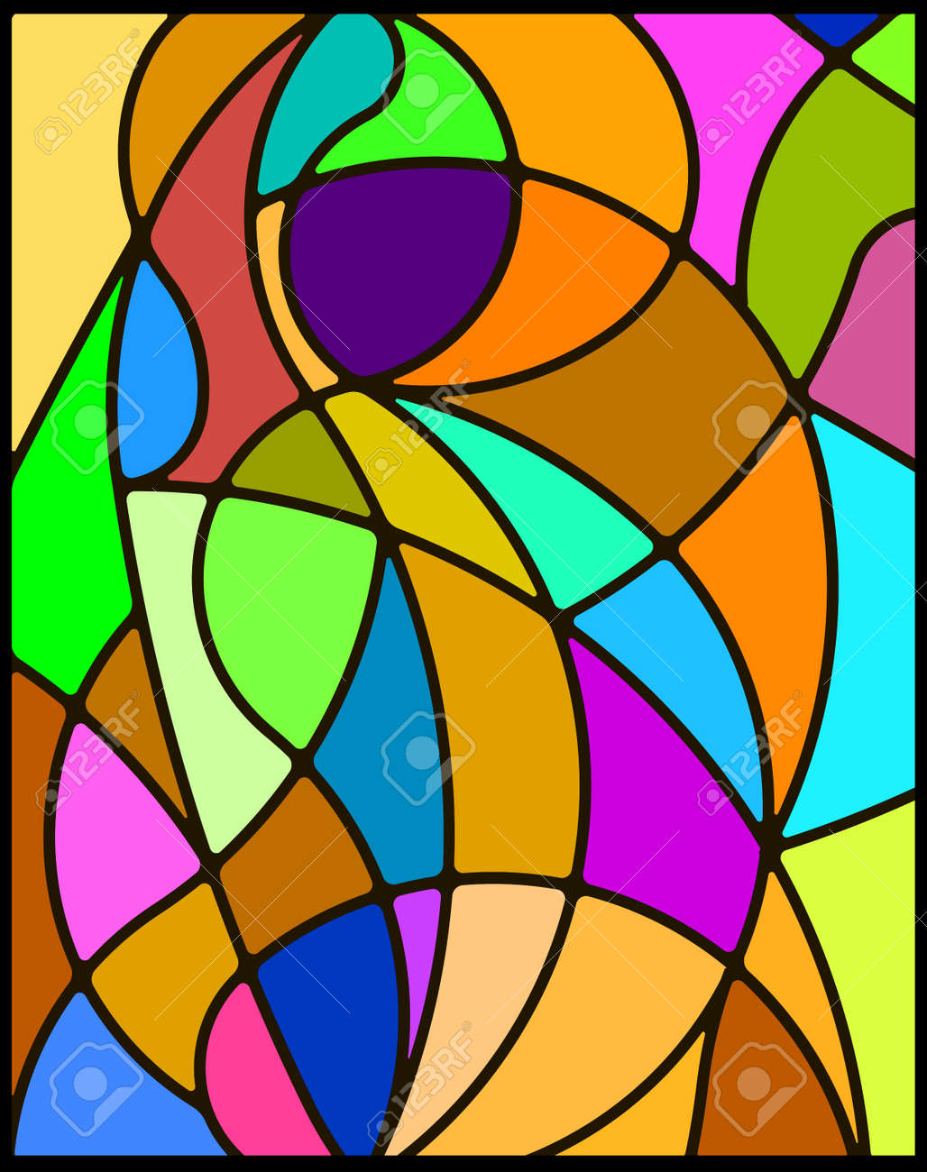 Stained glass. Stock Photo - 16650150