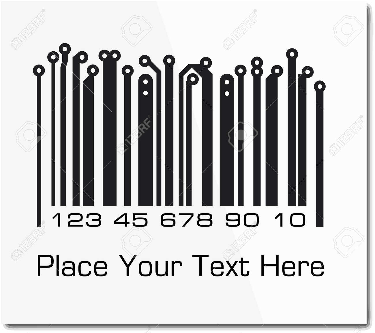 Bar code in PCB-layout style