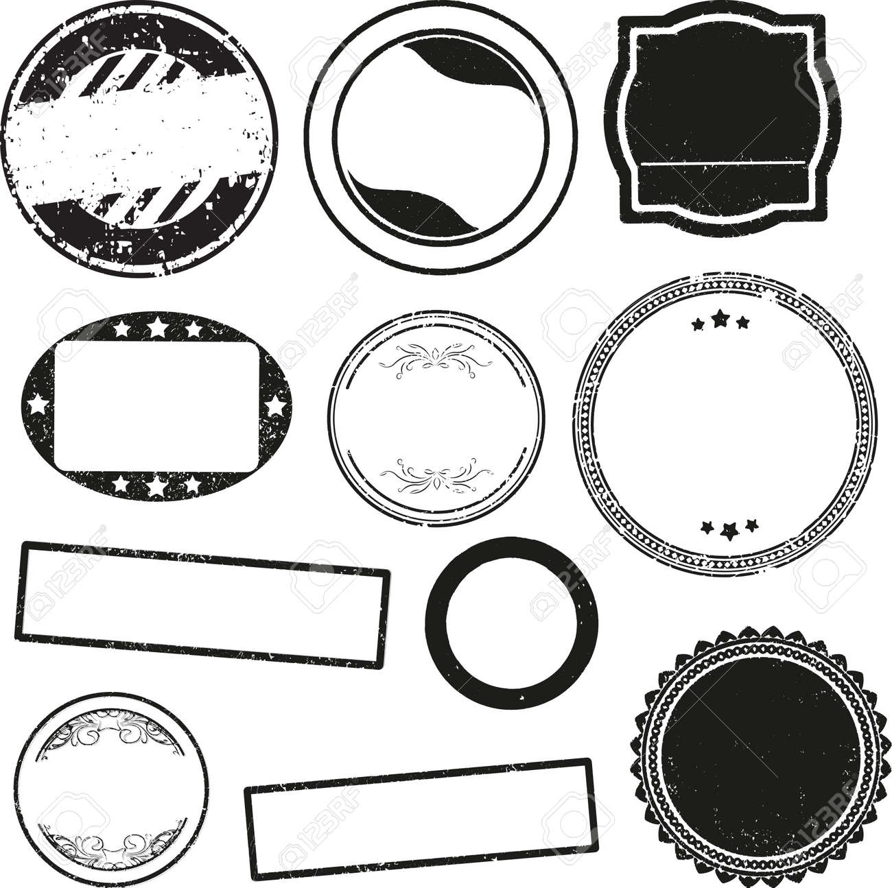 big set of templates for rubber stamps stock photo picture and