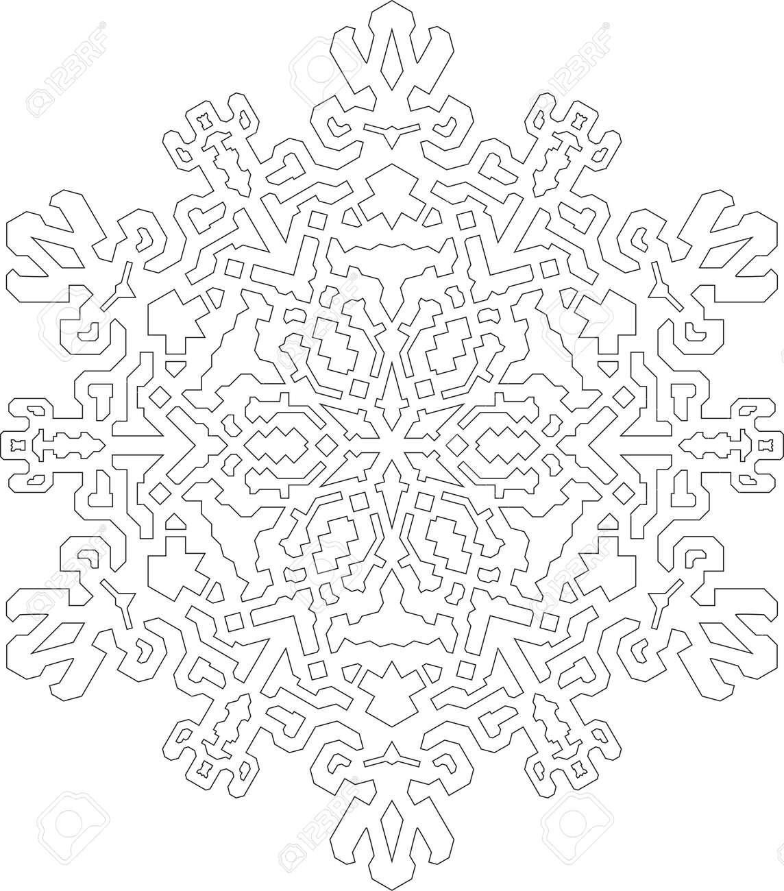 Atemberaubend Schneeflocken Farbseite Ideen - Entry Level Resume ...