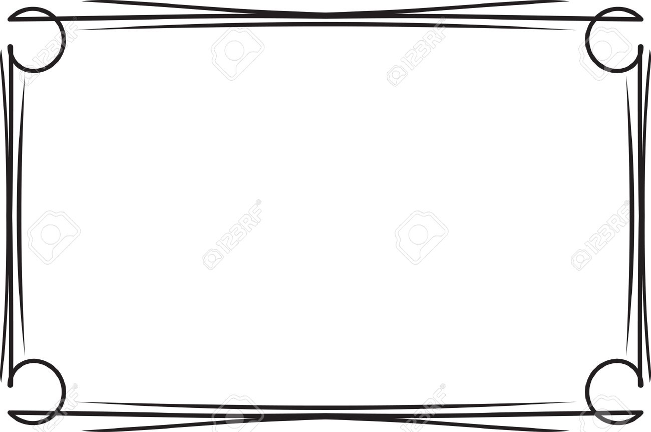 classical decorative simple black frame for your text menu or