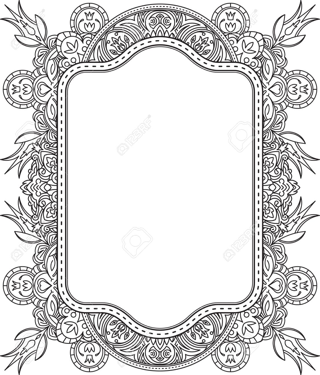 Ethnic Template For Design Wedding Invitations And Greeting Cards ...