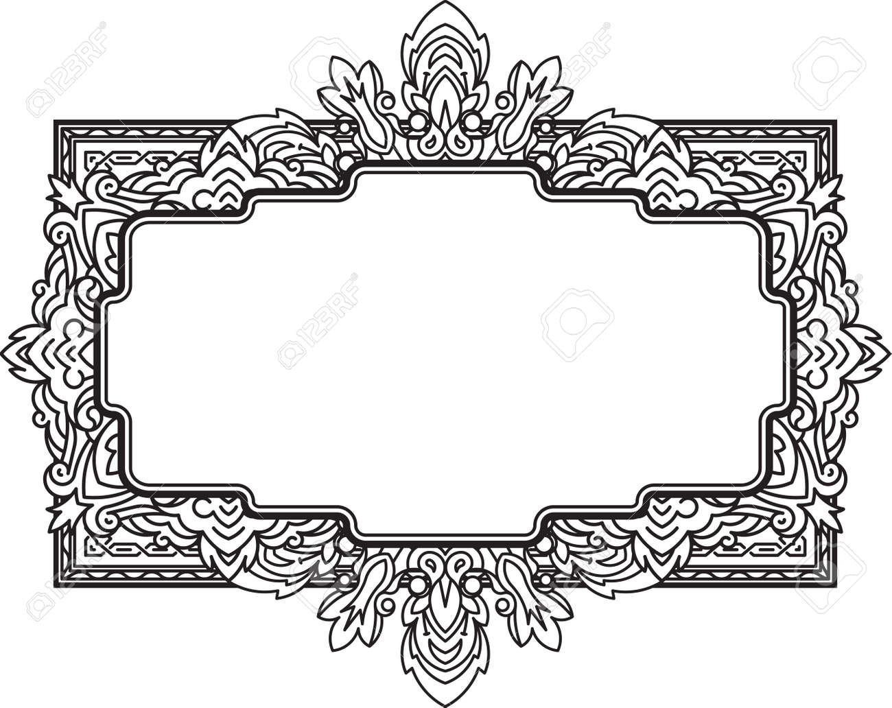 Ethnic Template For Design Wedding Invitations And Greeting Cards