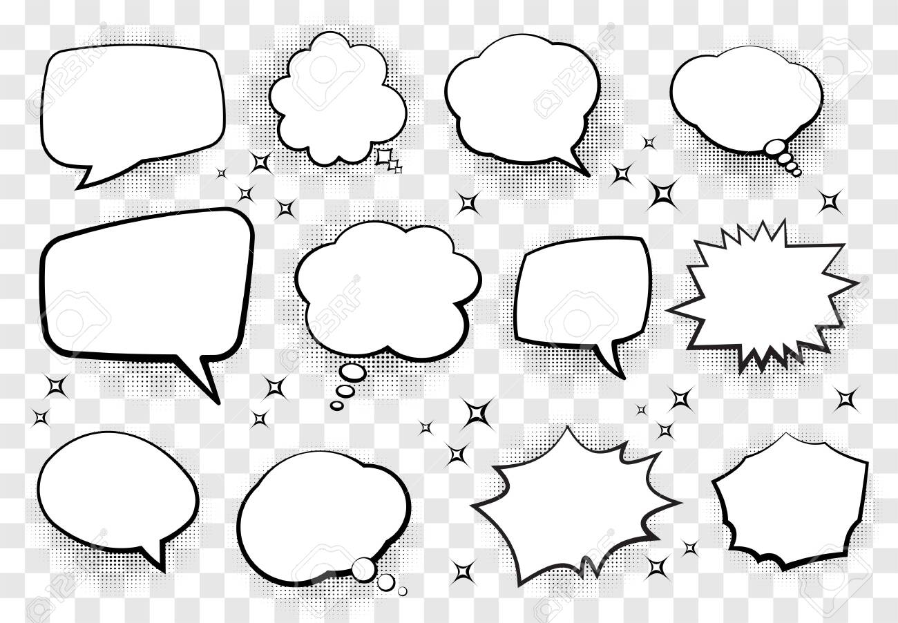 Set of comic style speech bubbles for your design. Vector illustration. - 149732413