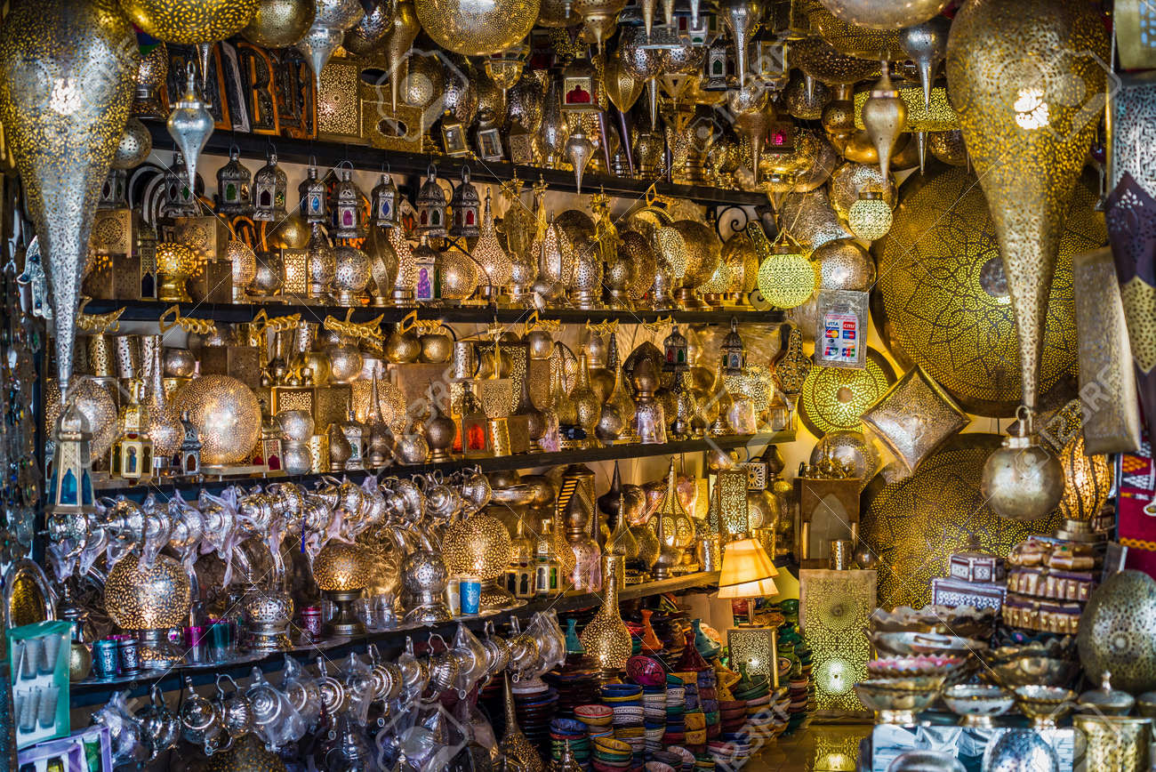 Shop For Moroccan Lamps Stock Photo Picture And Royalty Free Image