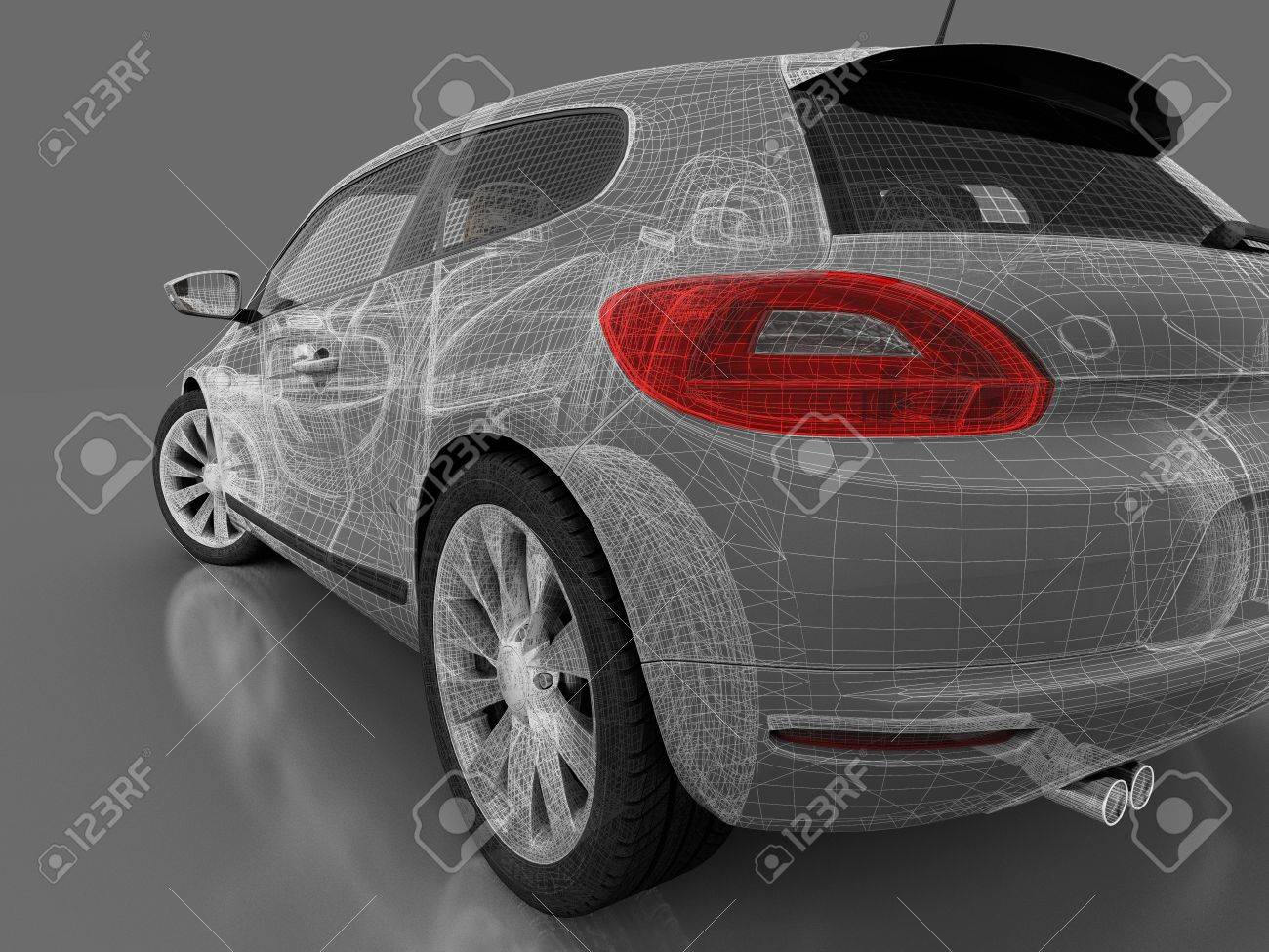 3d 4x4 car on the gray plane Stock Photo - 11994917