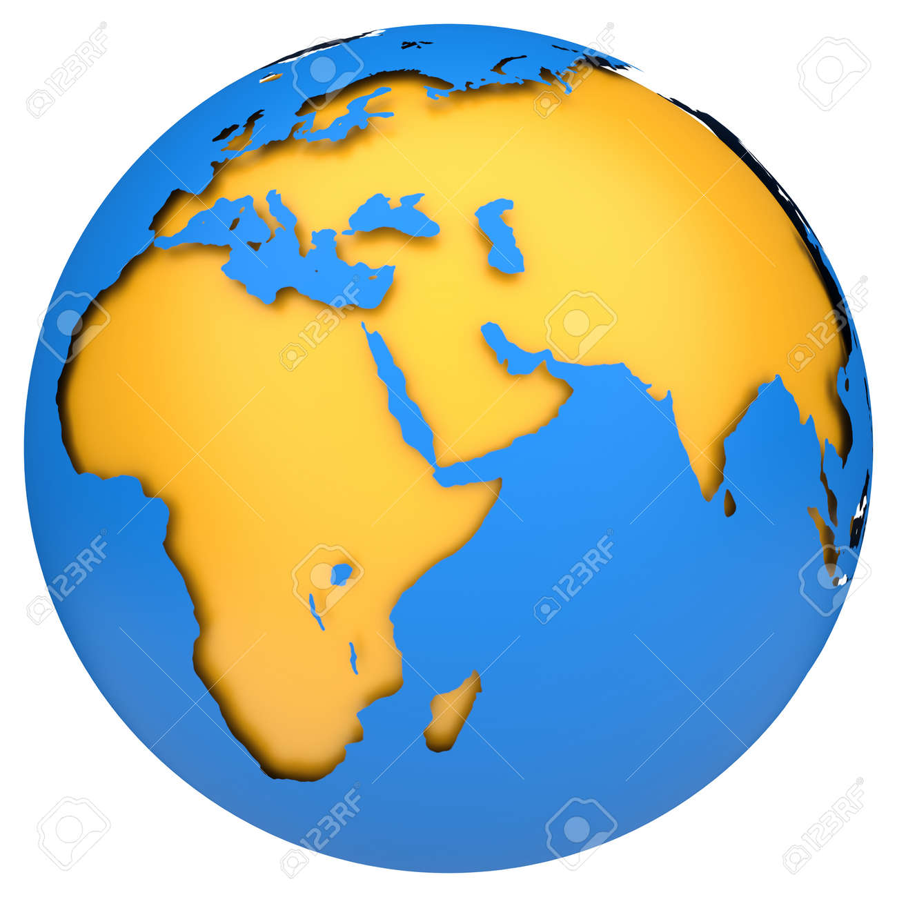 Earth Globe Map Side Of Africa And Europe 3d Image Stock Photo