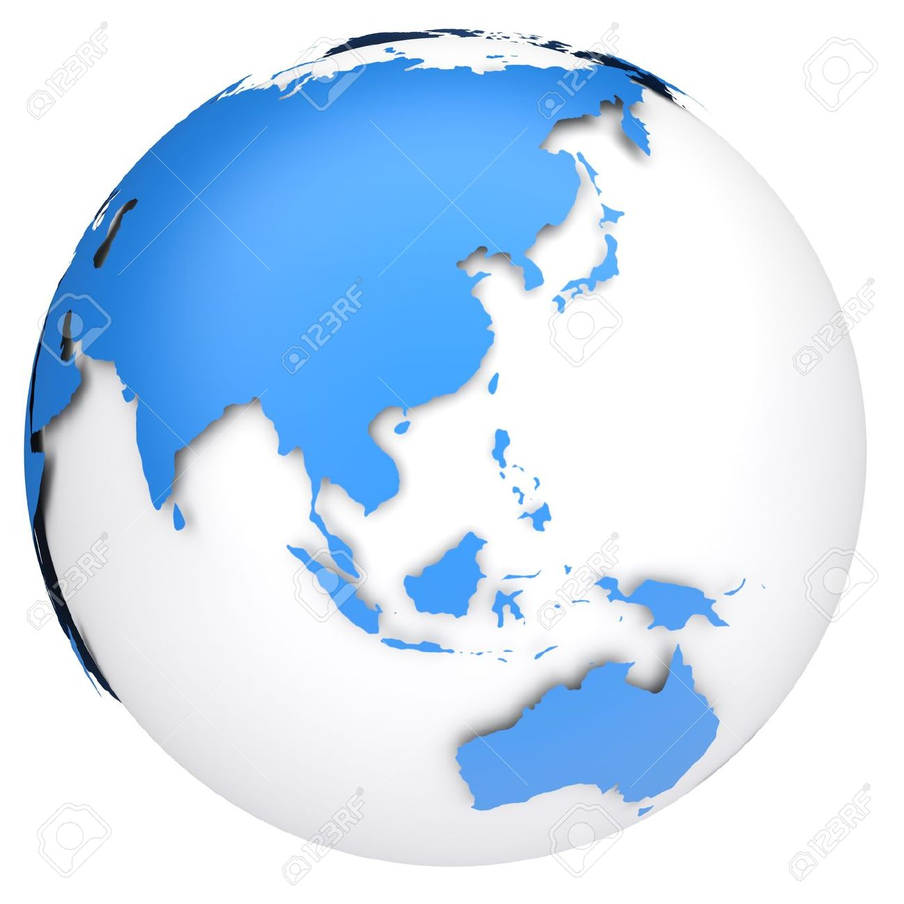 Earth globe 3d model side of asia australia and indonesia stock earth globe 3d model side of asia australia and indonesia stock photo 13361913 gumiabroncs Choice Image