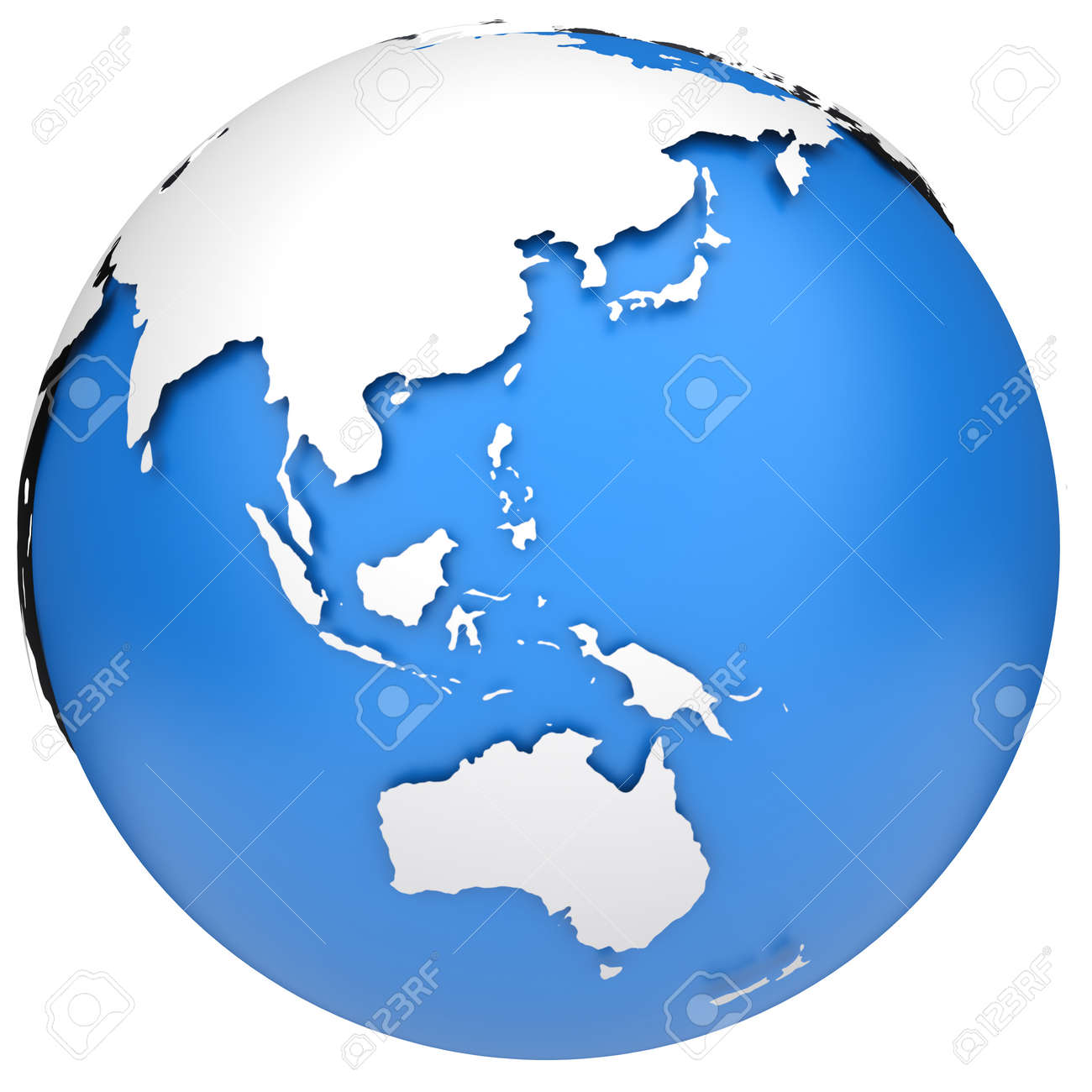Earth globe 3d model Side of Asia, Australia and Indonesia on vector map indonesia, tv indonesia, travel map indonesia, satellite indonesia, map with physical features of indonesia,
