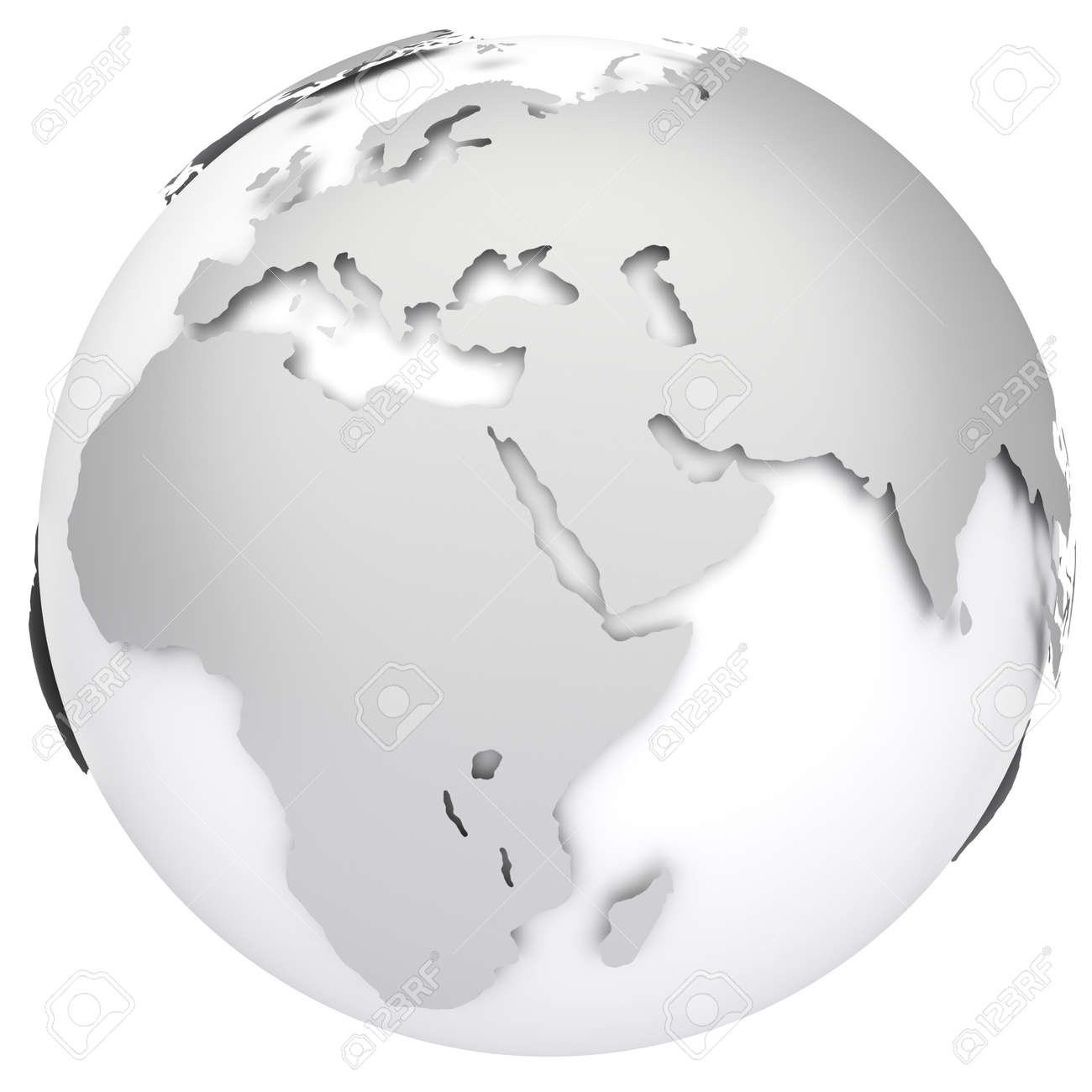 Earth Globe Map Side Of Africa Asia And Europe 3d Image – Globe Map of Europe