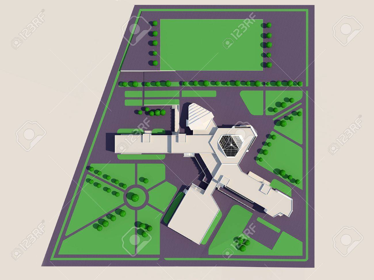 Photo architecture 3d master plan of the school building jpg 1300x975 green school building drawings