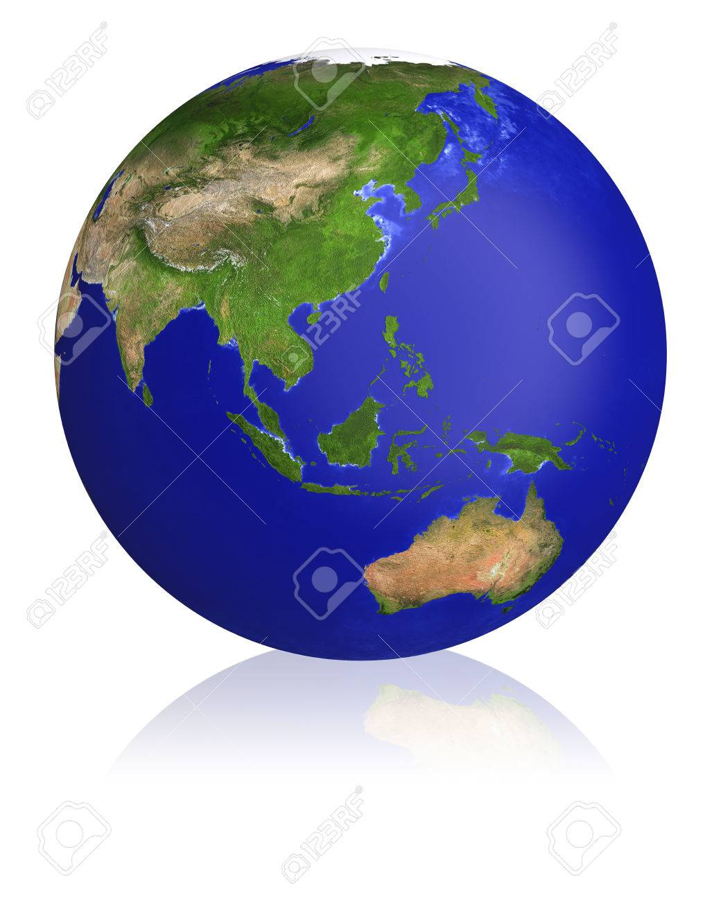 earth planet globe map side of the asia and australia stock photo 26568462