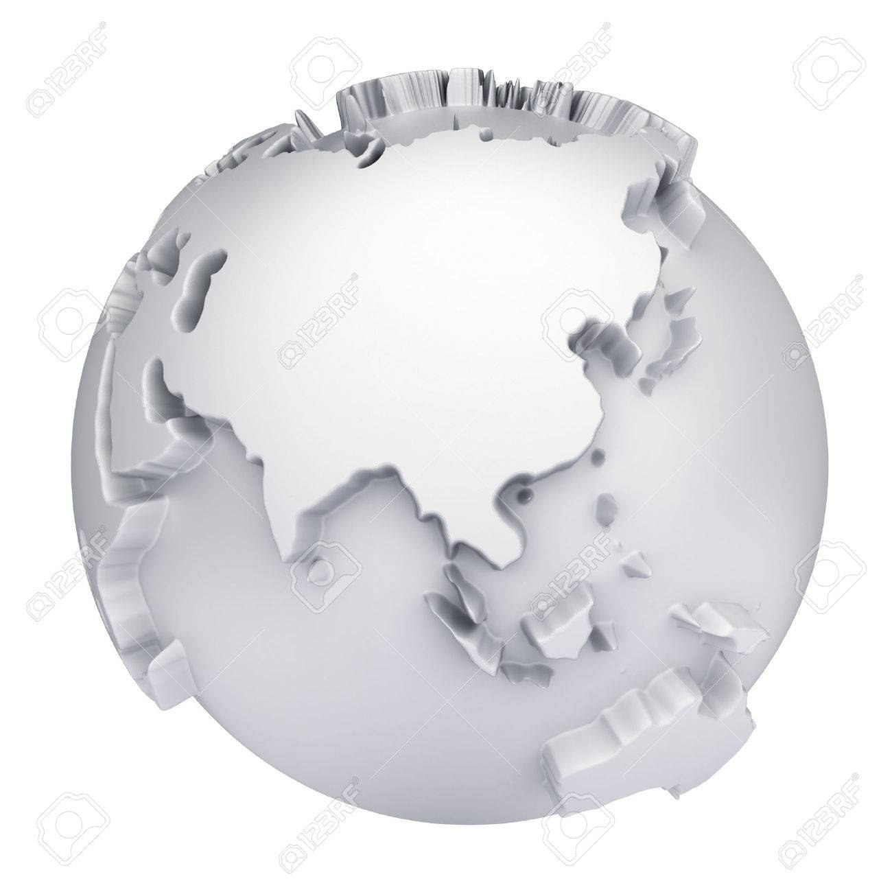 Earth world map asia and australia on a planet globe 3d concept earth world map asia and australia on a planet globe 3d concept illustration stock gumiabroncs Images