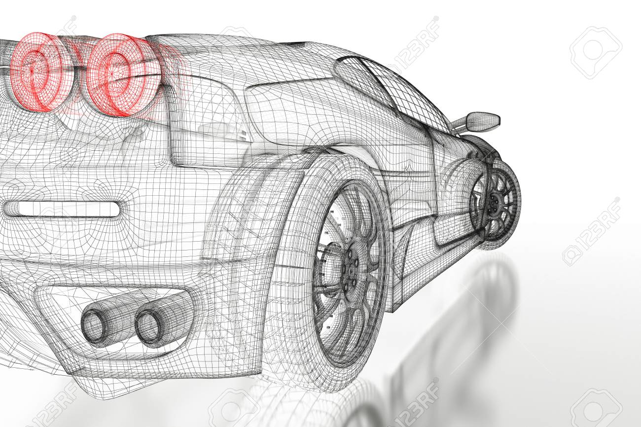 Car vehicle 3d blueprint mesh model on a white background 3d car vehicle 3d blueprint mesh model on a white background 3d rendered image stock photo malvernweather Image collections
