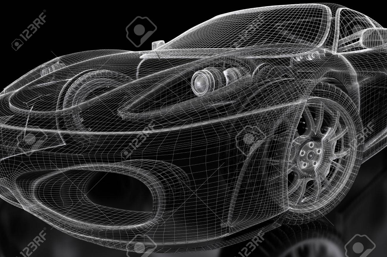 Stunning blueprint car value ideas everything you need to know car vehicle 3d blueprint mesh model on a black background 3d malvernweather Images