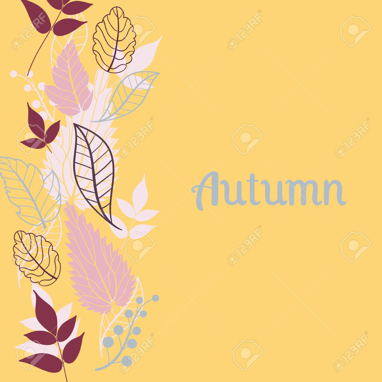 Autumn falling leaves backgroundn be used for wallpaperdesign of can be used for wallpaperdesign of invitationcard stopboris Gallery