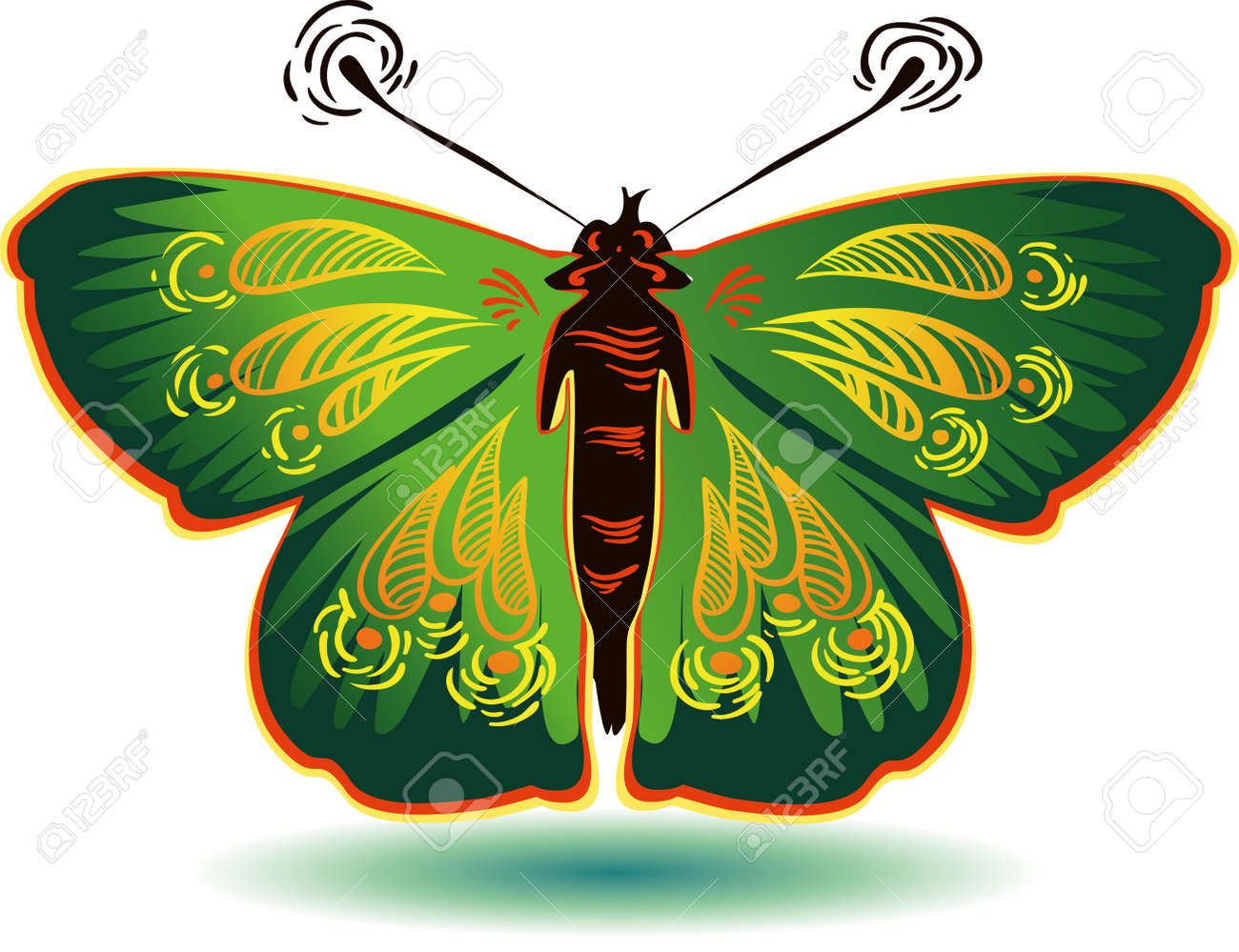 Colorful butterfly for a beautiful design Stock Vector - 12454662