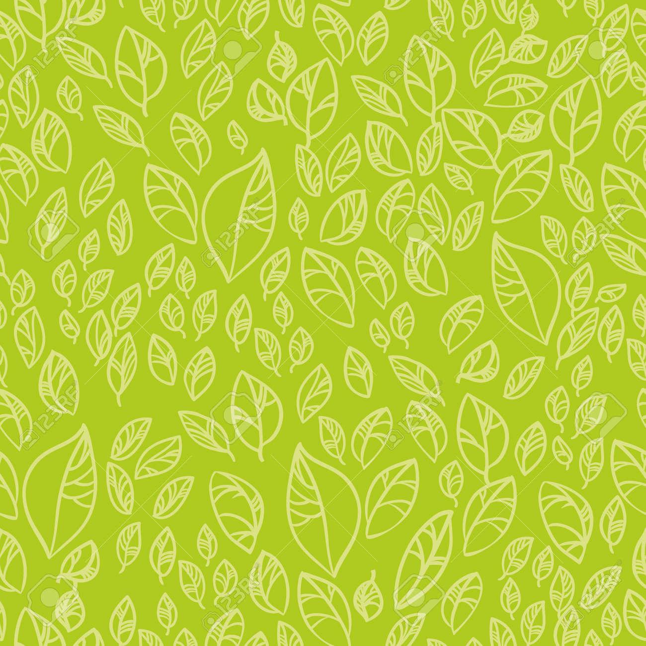Fresh green leafs seamless pattern - 12770049
