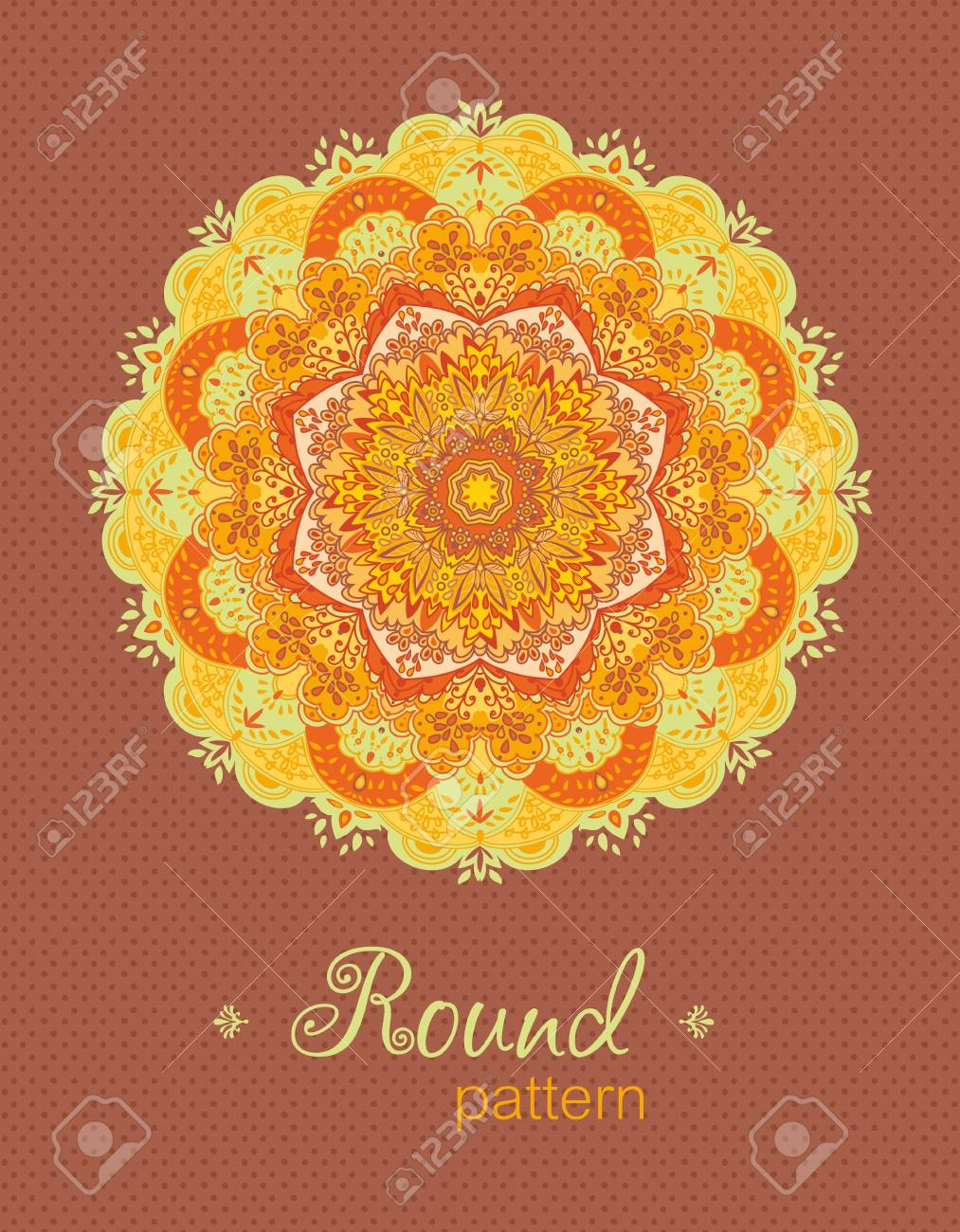 Ornamental roundfloral  lace pattern   Space for text Stock Vector - 13619942