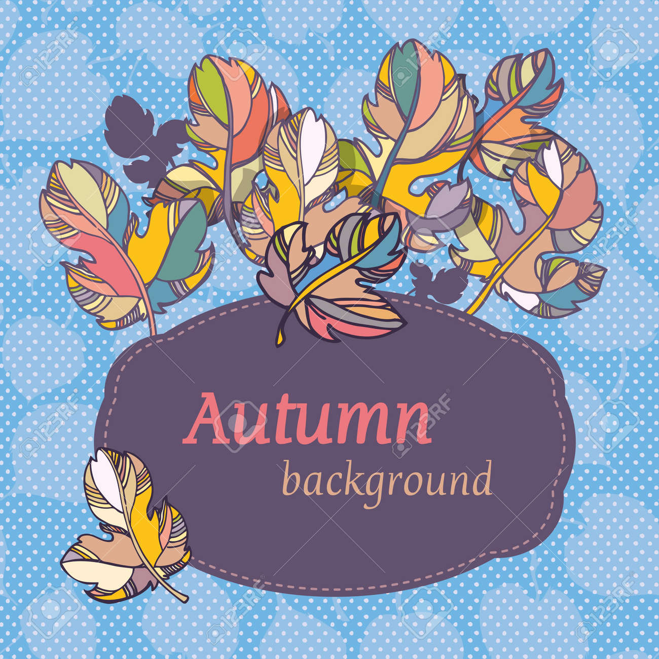 leaves on  light  background. spase for text Stock Vector - 14230004