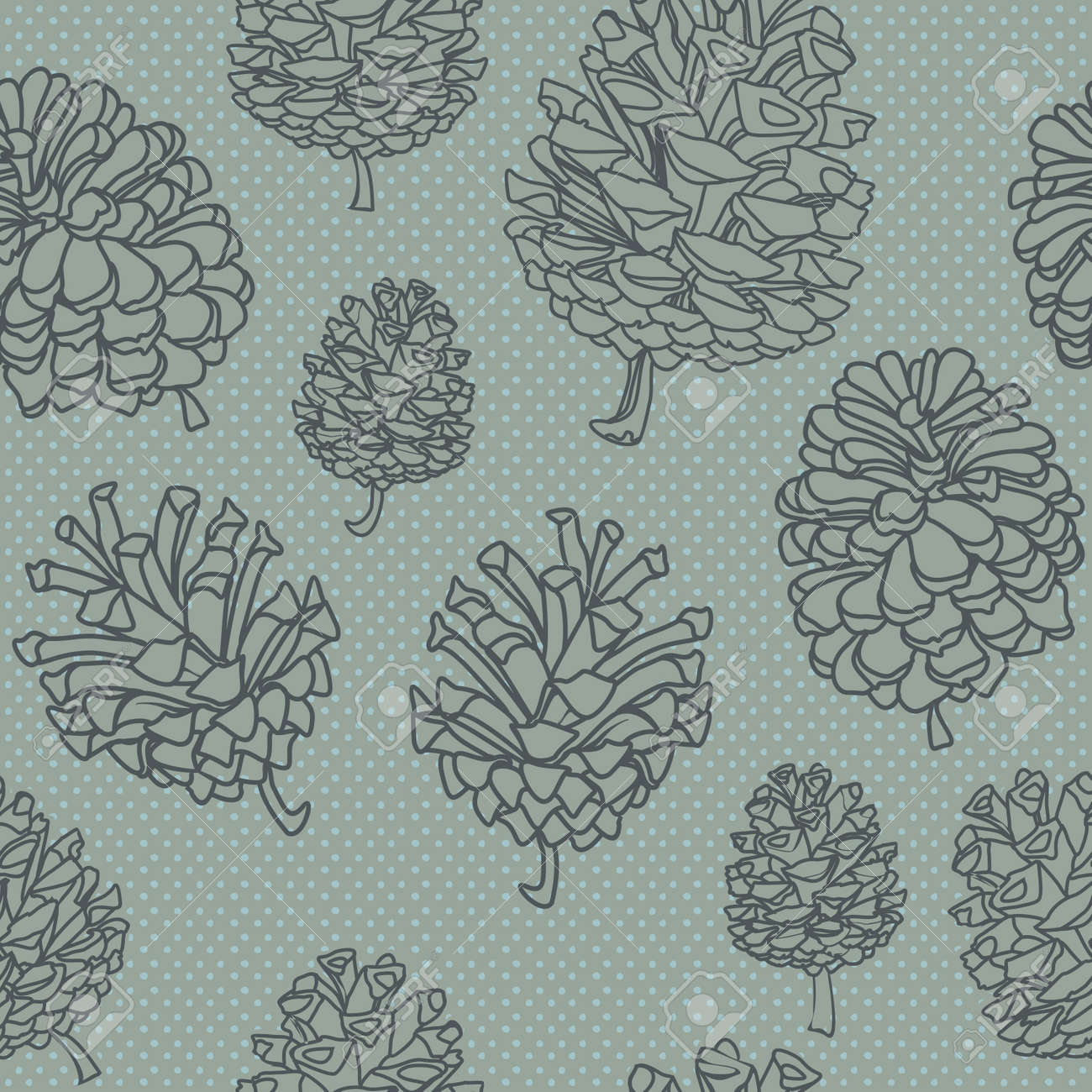 seamless vector background with cones. - 14230010