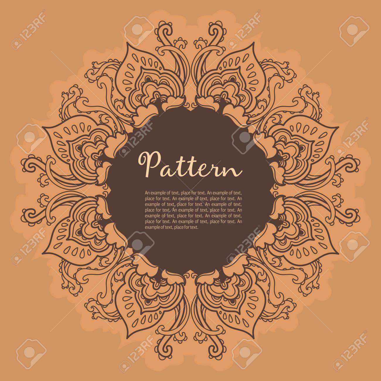 Ornamental round floral lace pattern. kaleidoscopic floral pattern, mandala. - 14778303