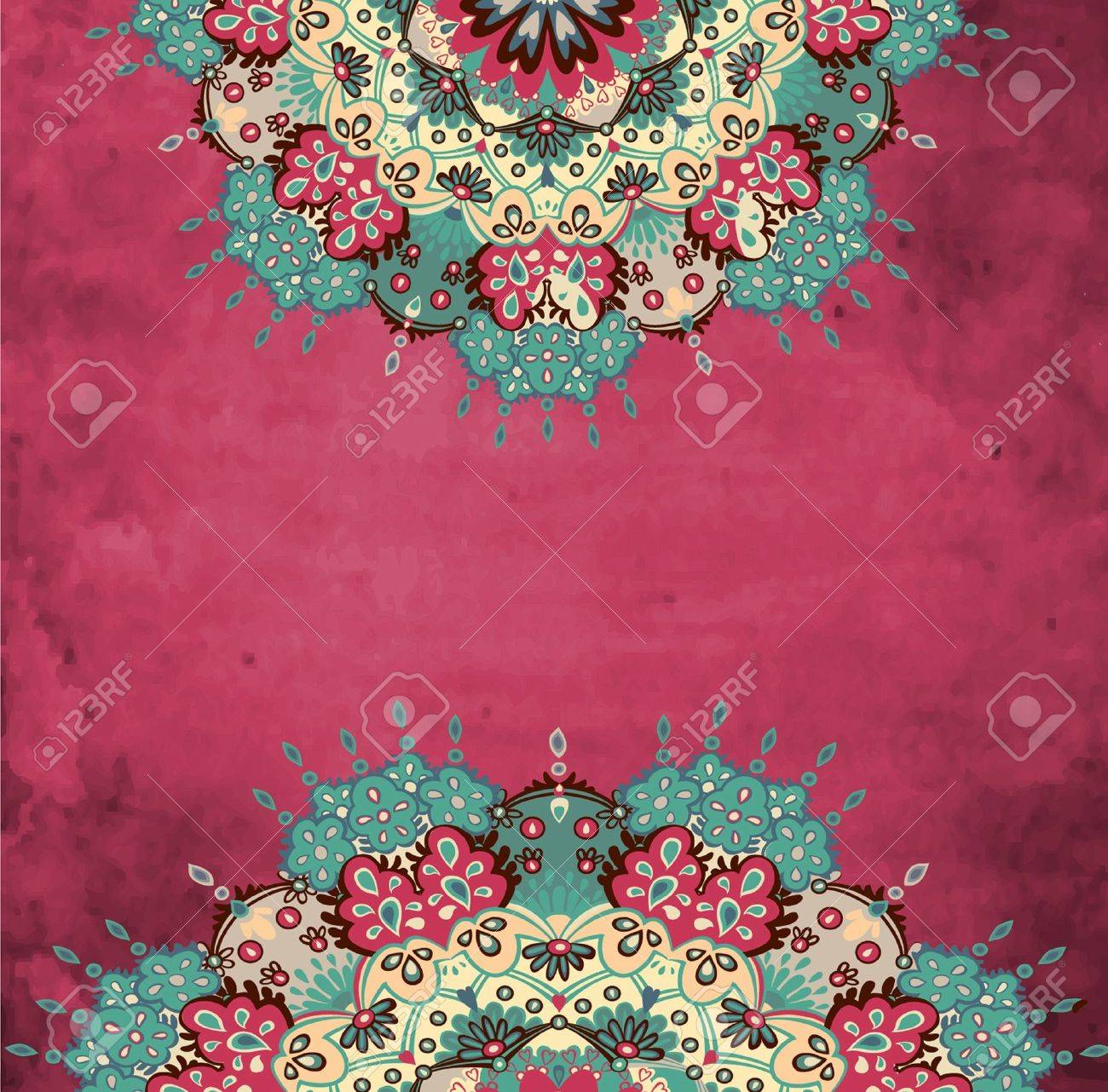 Colorful decorative round grunge background Stock Vector - 16553604
