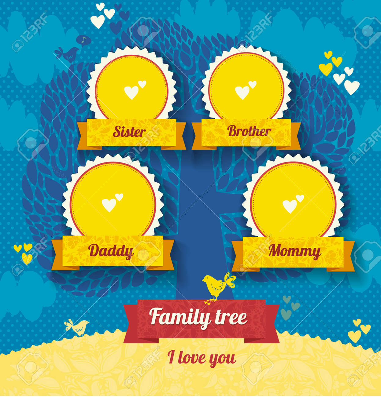 Vector Template For A Family Tree. Use A Template To Create A ...