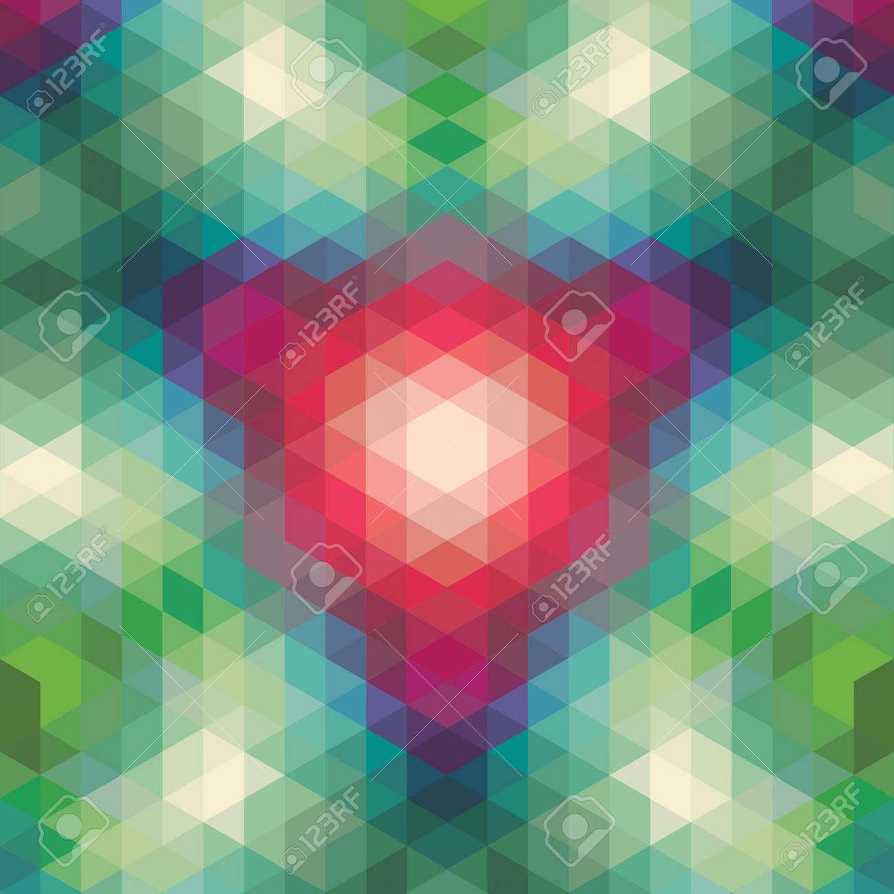 retro geometric pattern  vector optic effect texture Stock Vector - 19892018