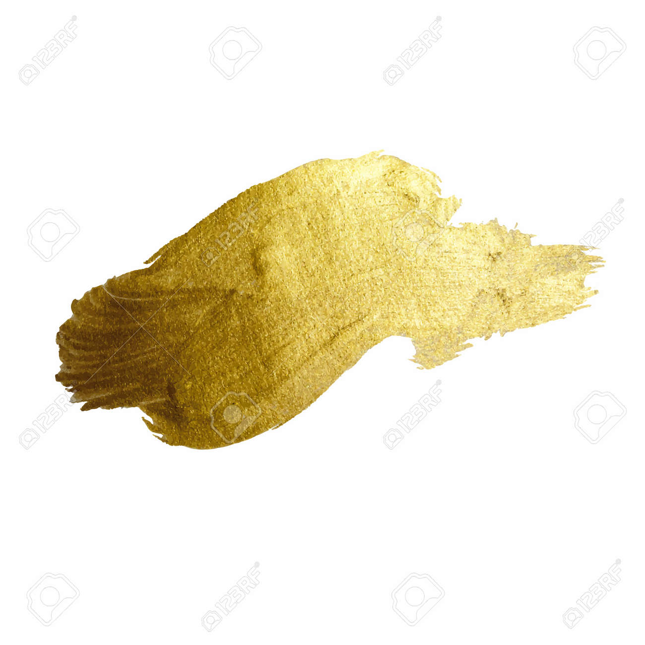 Gold Shining Paint Stain Hand Drawn Illustration Royalty Free ...