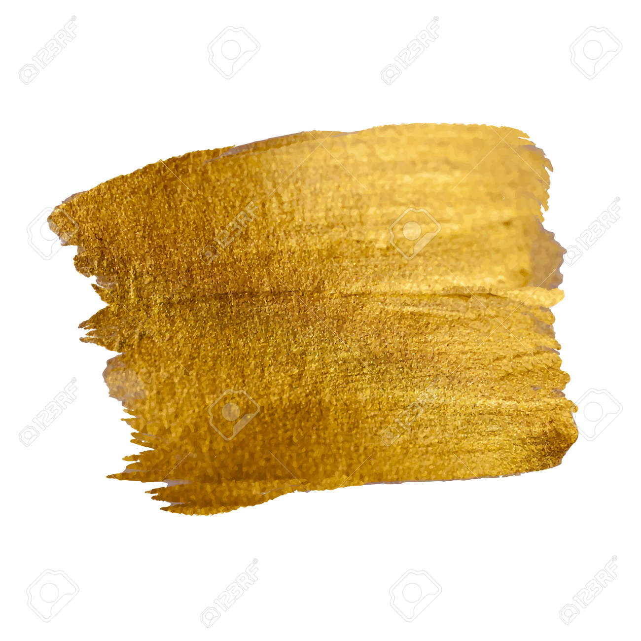 Gold Shining Paint Stain Hand Drawn Illustration - 43577358
