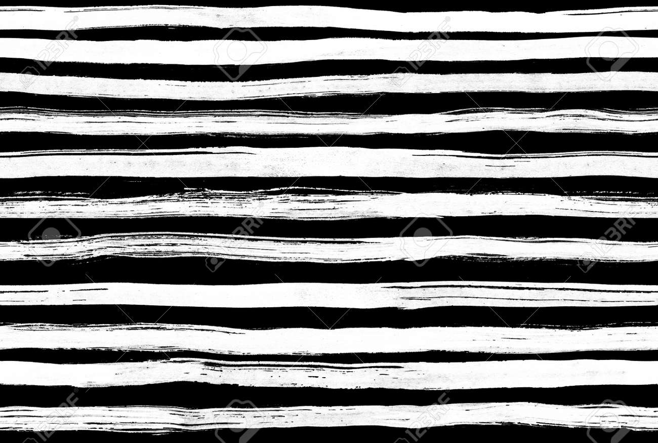Black white ink abstract horizontal stripes background hand drawn lines ink illustration simple