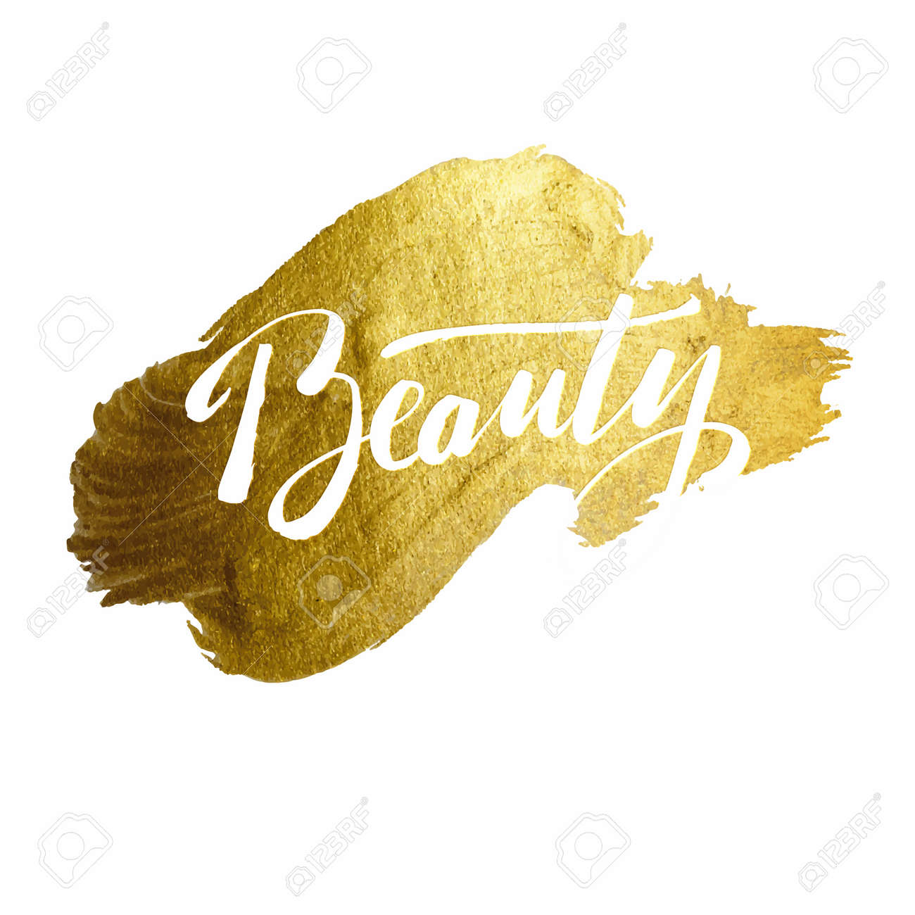 Pinselschrift Kalligraphie Auf Gold Background.Poster-Schablone ...