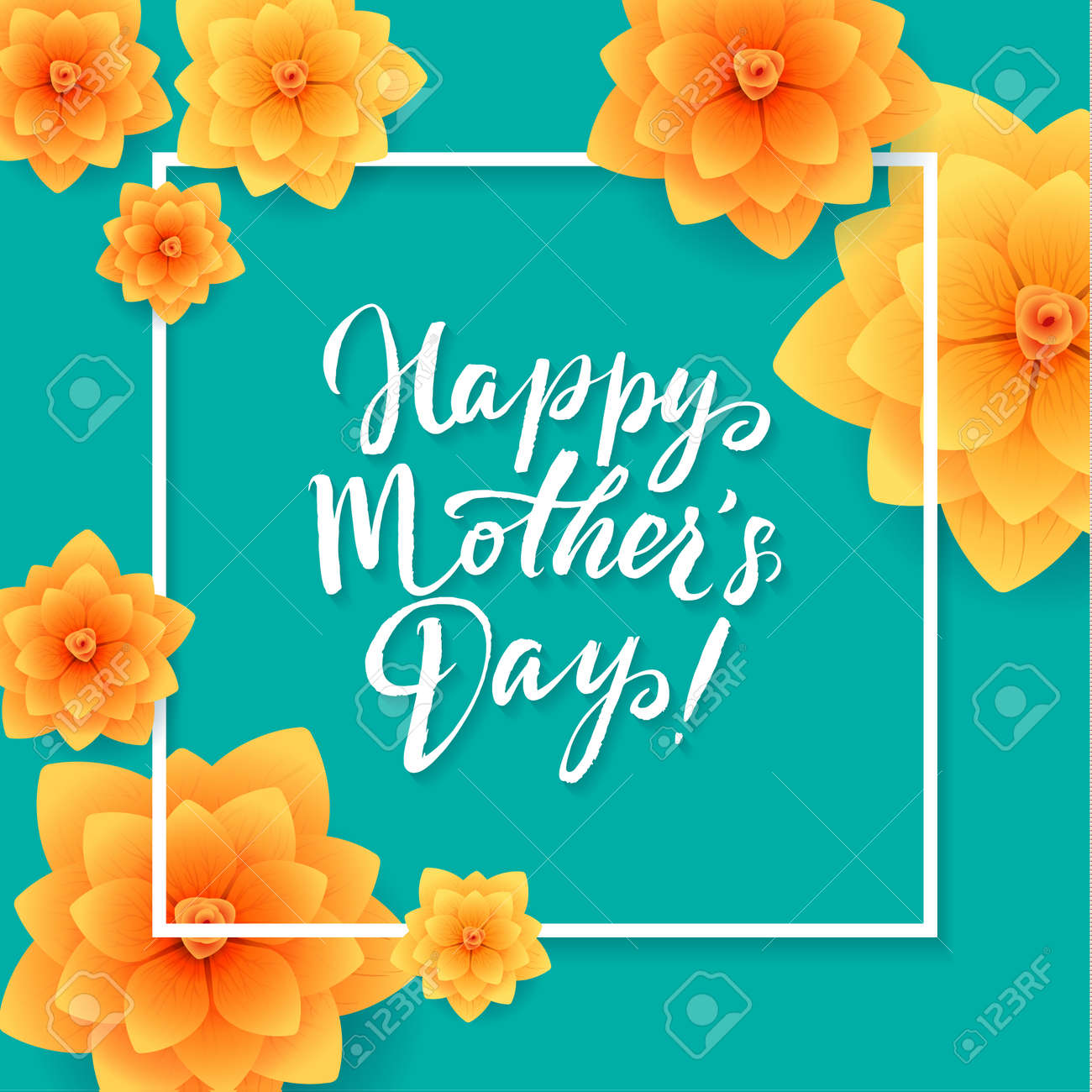 Happy Mothers Day Floral Greeting Card Beautiful Blooming Paper