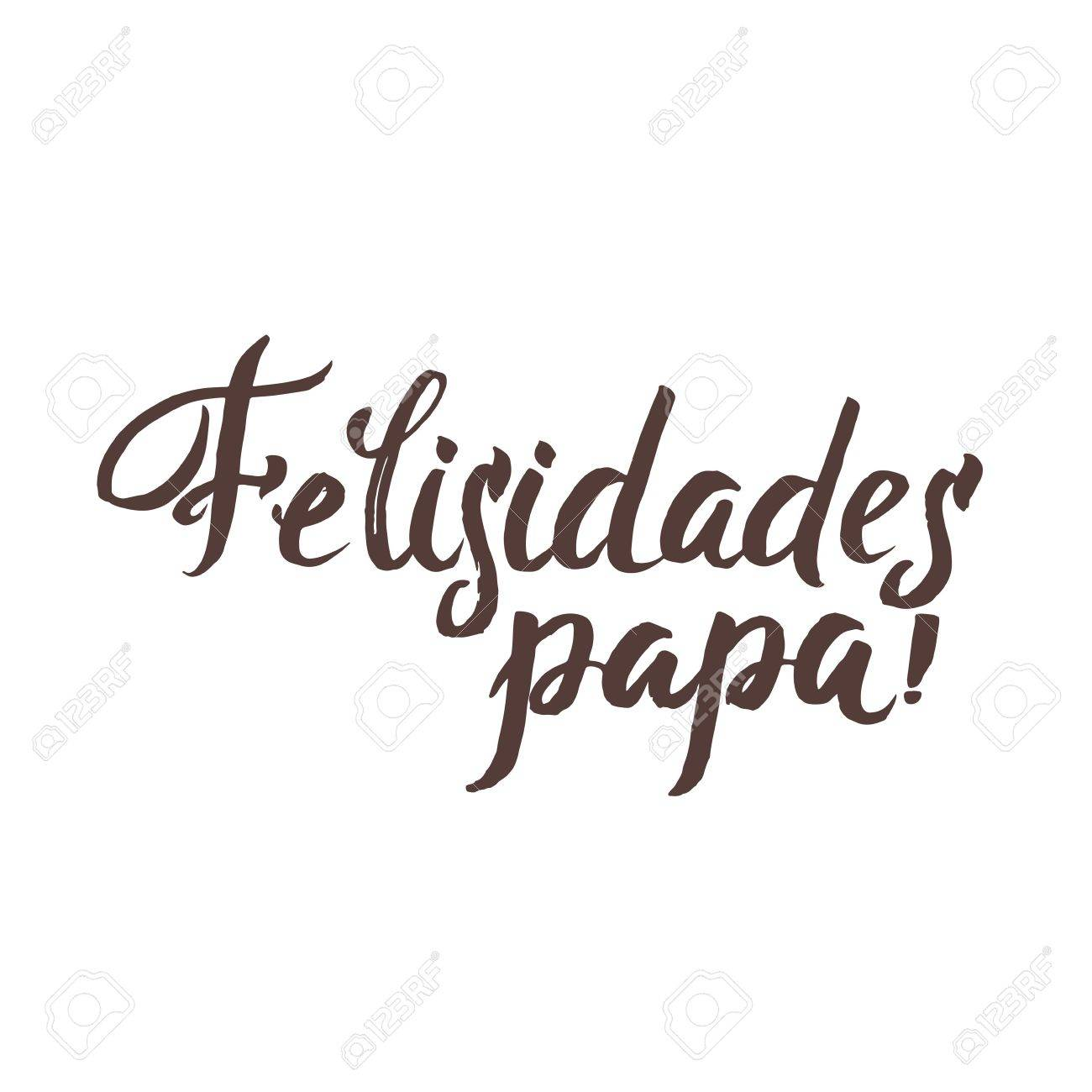 happy fathers day spanish greting card ink inscription greeting