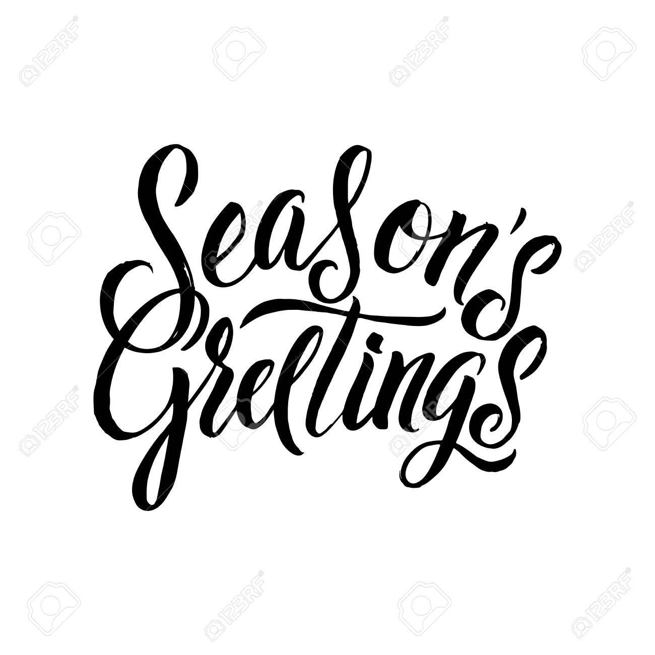 Seasons greetings calligraphy greeting card black typography seasons greetings calligraphy greeting card black typography on white background stock vector 68697934 m4hsunfo
