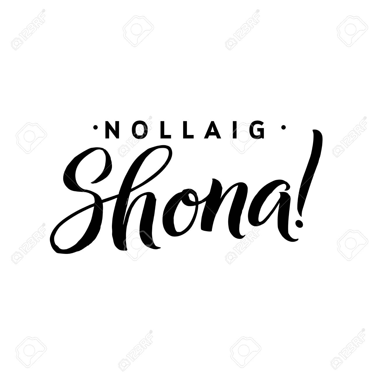 Nollaig Shona. Merry Christmas Calligraphy Template In Irish ...