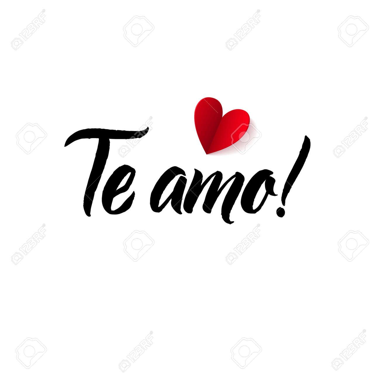 Ich Liebe Dich Valentinstag Spanisch Oder Portugiesisch Schwarz