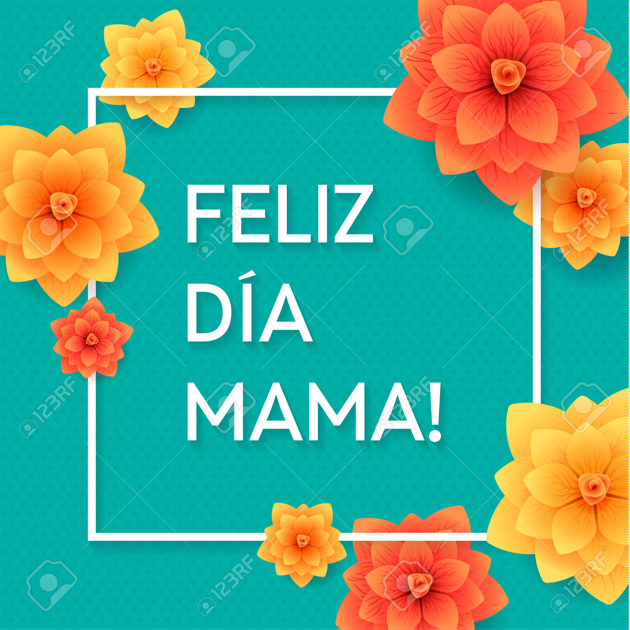 Happy Mothers Day Spanish Greeting Card Beautiful Blooming Paper