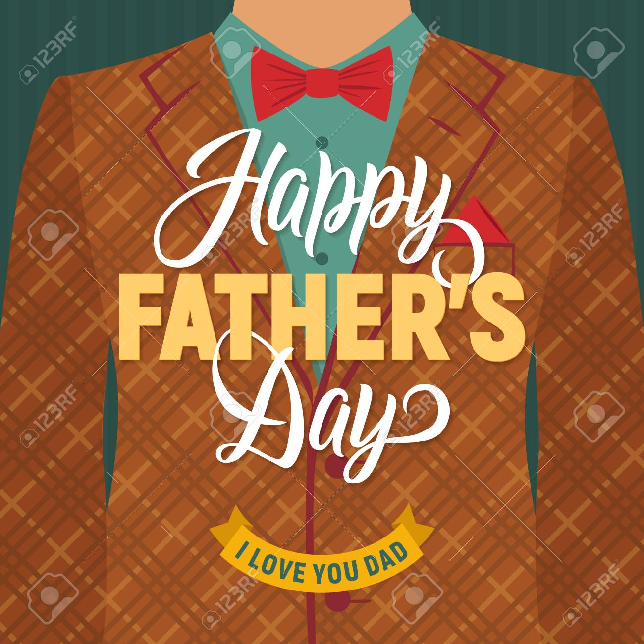 Fathers day greeting card retro style vector illustration royalty fathers day greeting card retro style vector illustration stock vector 75188279 m4hsunfo