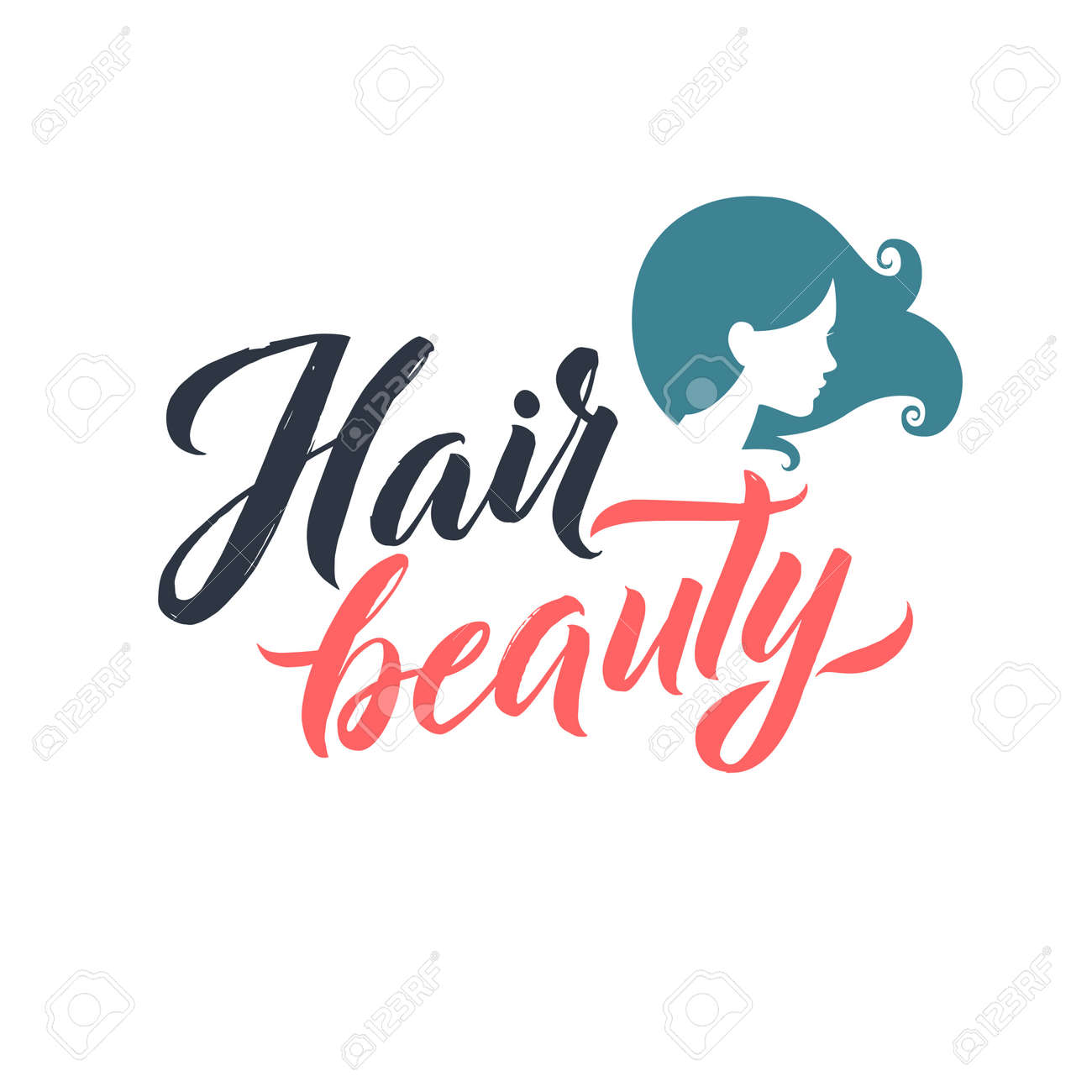 hair salon logo beauty vector lettering custom handmade rh 123rf com hair salon logo template hair salon logo template