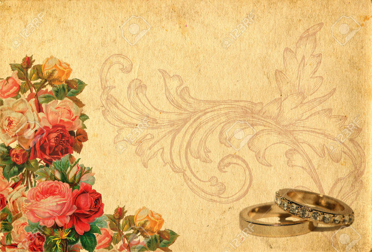 romantic vintage retro background with roses and wedding rings stock photo picture and royalty free image image 9794024 romantic vintage retro background with roses and wedding rings